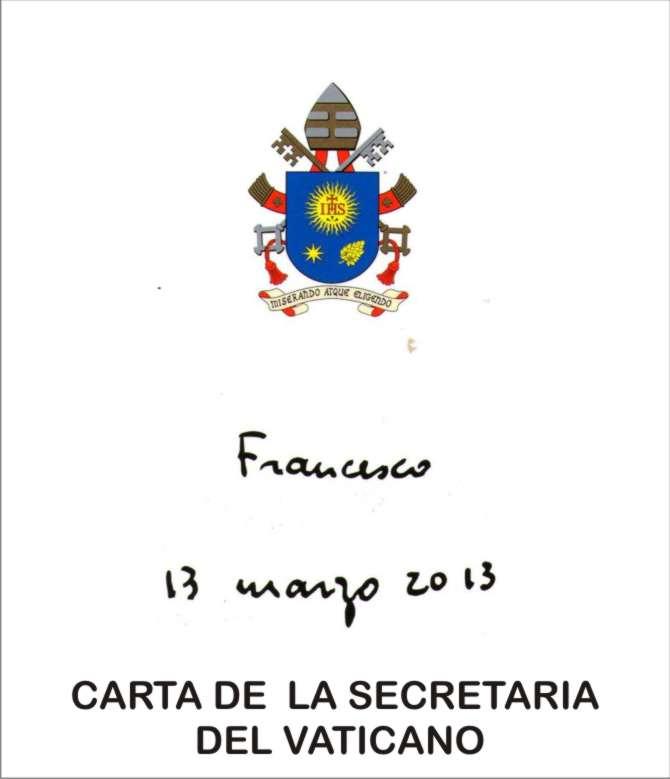 CARTA DEL VATICANO