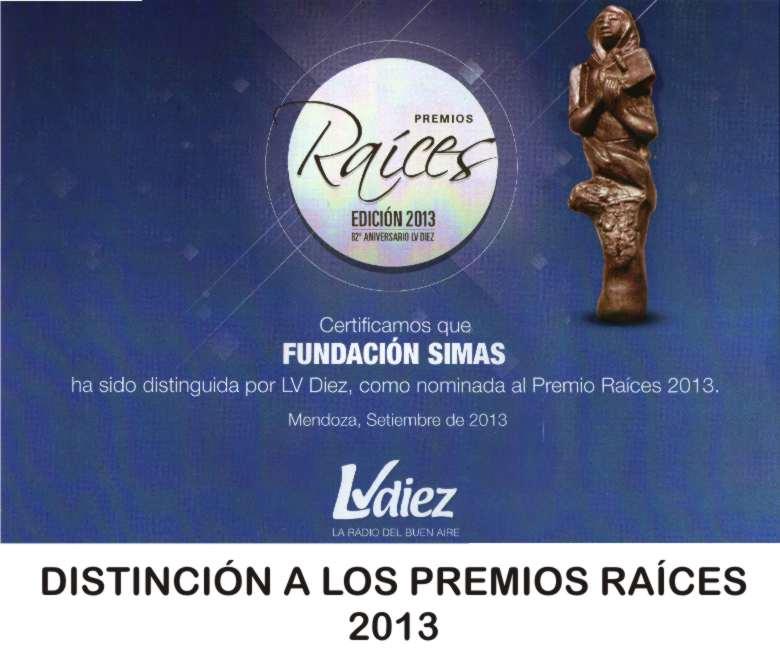 PREMIO RAICES 2013