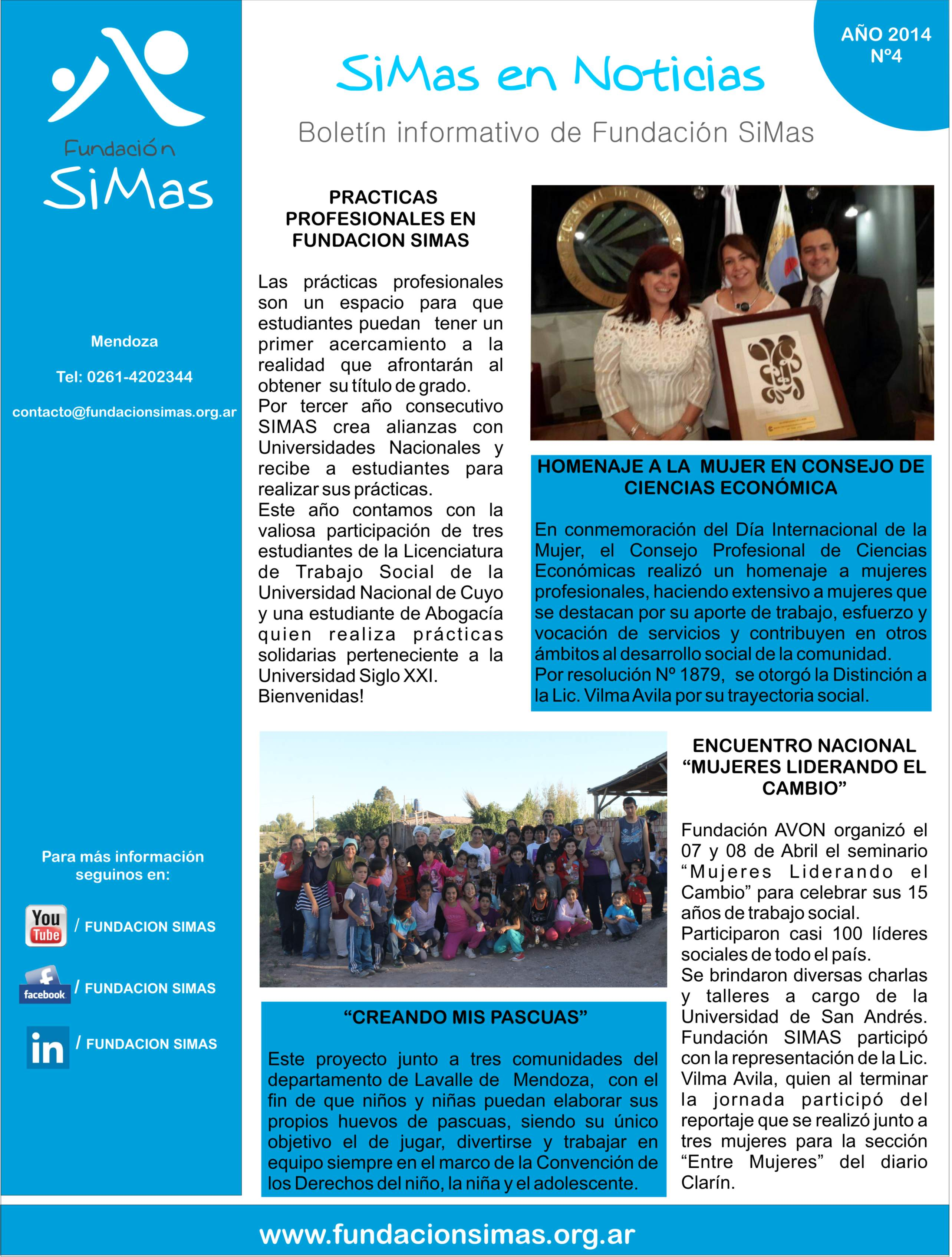 newsletter nº4 - Fundaciòn SIMAS
